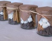 Wedding Favors-S'Mores Kit to take home!- Etsy - DaSweetZpot -- we could DIY