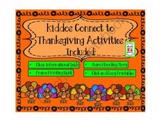"""Thanksgiving - Kiddos Connect to Thanksgiving from KiddosConnect on TeachersNotebook.com -  (84 pages)  - This is a """"gobble-y good"""" variety of activities to get your kiddos to connect to learning and fun!"""