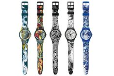 Swatch Tattoo Art Watches by Tin-Tin and Emannuelle Antille