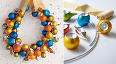 christmas wreaths, color schemes, colors, christmas decorations, holiday ornaments
