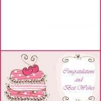 Wedding Greeting Card - beautiful wedding card that you can print for free @ freeprintable.com