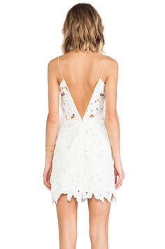 LOVE the back of this white lace dress