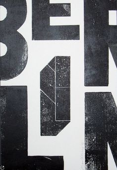 Typeverything.com - BERLIN poster by Alan Kitching.