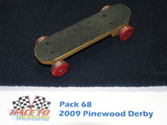 skateboard pinewood derby car