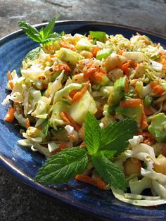 Cabbage Salad with Lime Dijon Dressing | #vegan #gluten_free | StraightUpFood.com