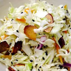 coleslaw recip, salad, white wines, food, noodl, ramen coleslaw, red wines, green onions, oil
