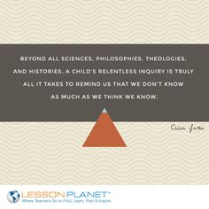 """Beyond all sciences, philosophies, theologies, and histories, a child's relentless inquiry is truly all it takes to remind us that we don't know as much as we think we know."" ~ Criss Jami #knowledge #inquiry #learning #quote"