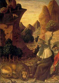 Bono da Ferrara (formerly attributed to Pisanello), Saint Jerome in a Landscape, about 1440