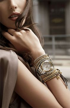 Michael Kors 'Garret' Crystal Watch✤