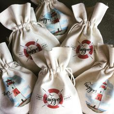 Cotton favor bags. #partyandcogr