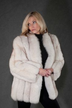 fur coat, blue fox, white fox, fox jacket