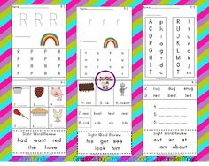 Letter Rr Phonics Sheet Freebie from Sharing Kindergarten