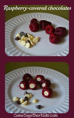 Raspberry covered chocolate!