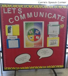Informational bulletin board for parents and staff to recognize Better Hearing and Speech Month