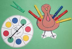 1 - 2 - 3 Learn Curriculum: Turkey Clothes Pin Game