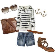 beaches, fashion styles, summer outfits, pretti thing, summer nights, shoe, earring, old navy, anchor