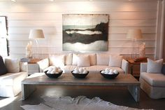 Beachy living room. Contemporary coastal.