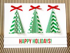 christma card, traditional christmas, christmas colors, decorating ideas, handmad christma, diy gift, holiday cards, christmas trees, handmade christmas cards