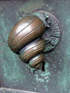 *Ribe Cathedral. Portal Door handle in form of a snail (1904) by Anne Marie Carl-Nielsen