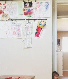 Fun way to display kids art