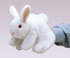 puppets, white bunni, rabbits, rabbit puppet, bunni puppet, bunni rabbit