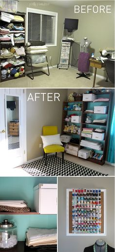 sewing room makeover on a tiny budget!