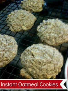 Cookie recipe using instant oatmeal flavor packets. Such as, peaches n cream, blueberries n cream, Apple cinnamon etc