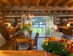 decor, dining rooms, logcabin, log cabin homes, dine room