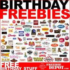 birthday freebies, remember this, happy birthdays, stuff, birthday treats, free birthday, place, birthday gifts, birthday foods
