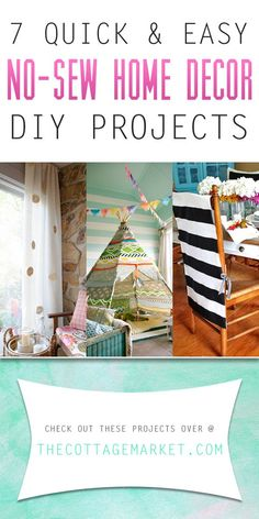 7 Quick and Easy No-Sew Home Decor DIY Projects - The Cottage Market