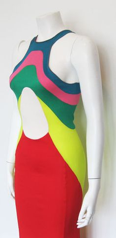 1970s Stephen Burrows Color Block Jersey