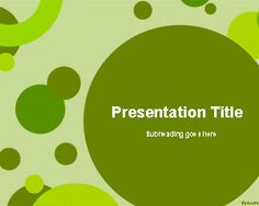 Green Circles PowerPoint template background, #free  download abstract slide template
