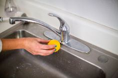 Use lemons to clean hard water stains.