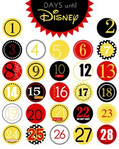 Days Until Disney | Capturing Magic - Cute printable Disney countdown