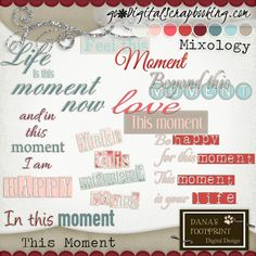 This Moment | Word Art