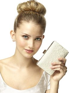 Crocheted Lace Bridal Clutch ~ Handbags, Purses and Clutches for the Bride and the Bridal Party + Tips