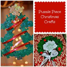 Puzzle Piece Christmas Crafts