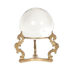 Crystal Ball with Brass Stand