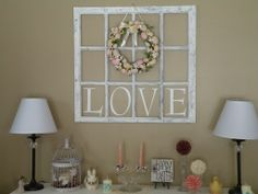 Old Wood Window Craft Ideas | old window frames craft ideas - Google Search | For the Home