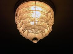 DIY lace chandelier