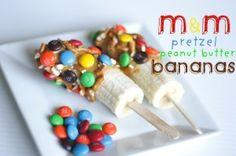 M Pretzel Peanut Butter Bananas by yvette