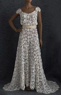Irish lace wedding dress  1920