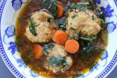Chicken Meatballs in Onion Broth (with veggies) - Predominantly Paleo veg broth, onion broth
