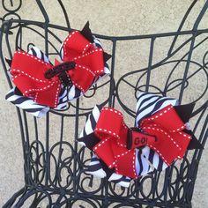 Cheer Bow - School Spirit Hair Bow - School Color Hair Bow - Team Colors Hair Bow - Layered Boutique Hair Bows (Set of 2). $10.00, via Etsy.