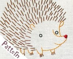 H Hedgehog INSTANT DOWNLOAD PDF embroidery by penguinandfish, $6.00