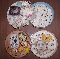 The Vintage Dresser: A New Tutorial - Altered Laughing Cow Cheese Boxes!