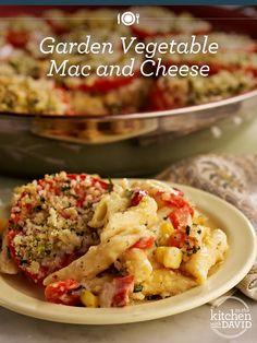Garden Vegetable Mac & Cheese...best summer dinner #recipe EVER!