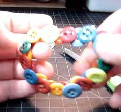 make a button bracelet video tutorial