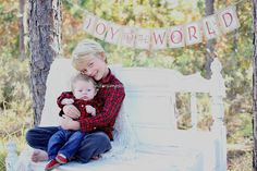 JOY To The WORLD Christmas Photo Prop Mantle by LazyCaterpillar, $32.50