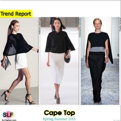 Cape Top Trend for Spring Summer 2015. Halston Heritage, Christophe Lemaire, and Public School#Spring2015 #SS15